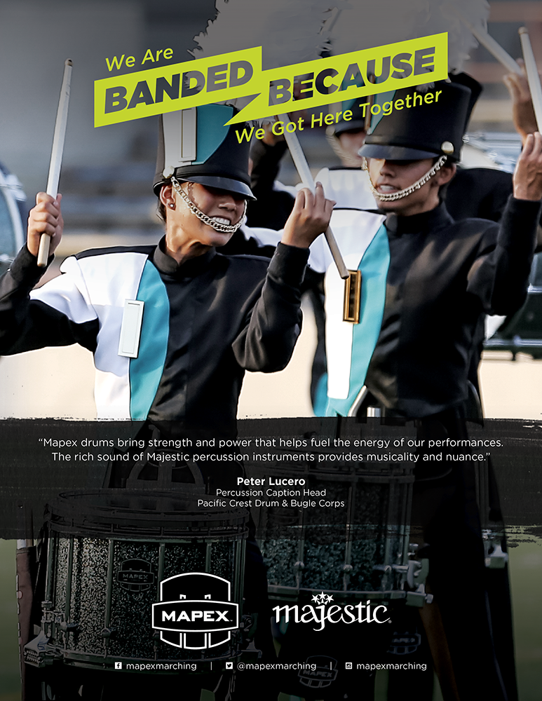 Mapex and Majestic Marching Percussion Ad feat. Pacific Crest